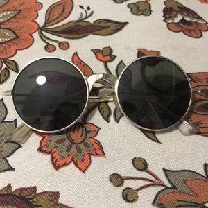 Le Specs gold round sunglasses super retro